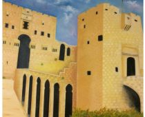 Aleppo Castle (Syria) 28 in. X22 in. oil on canvas