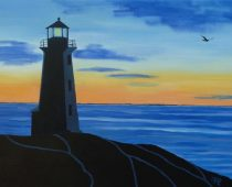 Sunset at Peggy's Cove 18×24