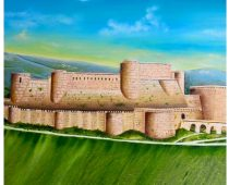 Syrian castle 48 inx24 in. oil in canvas