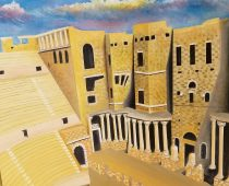 The Roman theatre of busra (syria) 28 in. X22 in. oil on canvas