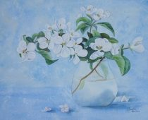 Danielle Beaulieu watercolour of apple blossoms