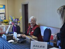 Therese Boisclair & Kat McClure at the Sales Desk