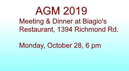 AGM Meeting & Dinner 2019